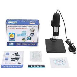 1000X Zoom USB Microscope 8 LED Compact Endoscope Magnifier
