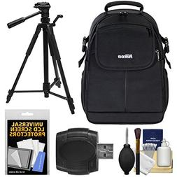 Nikon 17006 Compact DSLR Camera Backpack Case with Tripod +