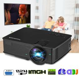 Portable 5000 Lumens 1080P FHD LED Video Projector Home Thea