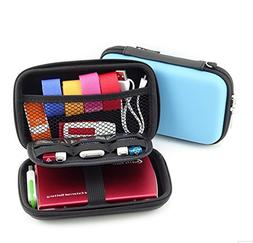 2-Layers Protective Hard Shell Travel Organizer Carrying Cas