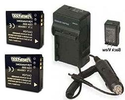 2 Batteries + Charger BP-DC4 BP-DC4-U BP-DC04-E for Leica C-