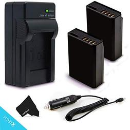 2 High Capacity LP-E10 Batteries and Battery Charger Kit for
