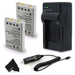 2 High Capacity EN-EL5 Batteries and Charger Kit for Nikon C