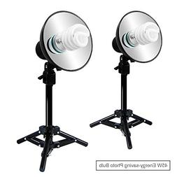 Julius Studio 2 Sets of 400W Continuous Lighting Stand Kit f