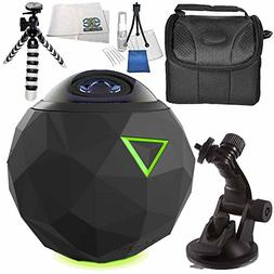 """360fly 4K Video Camera 7PC Accessory Bundle - Includes 48"""" M"""
