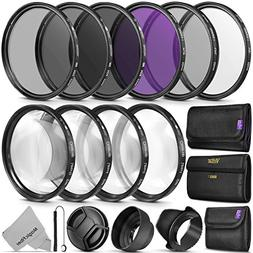 52MM Complete Lens Filter Accessory Kit  for Nikon D3300 D32