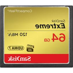 SanDisk 64GB Extreme Compact Flash CF Memory Card SDCFXS-064