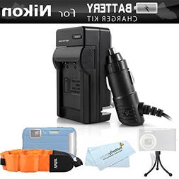 Battery Charger Kit For Nikon COOLPIX AW120, AW110, AW130, W