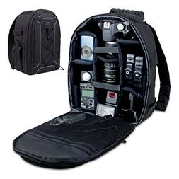 Camera Backpack by USA Gear - DSLR Case with Storage Divider