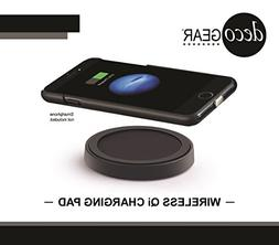 Deco Gear Wireless Charging Base Compact Qi Charger Pad for