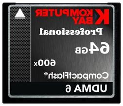 KOMPUTERBAY 64GB Professional COMPACT FLASH CARD CF 600X 90M