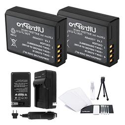LP-E10 Battery 2-Pack Bundle with Rapid Travel Charger and U