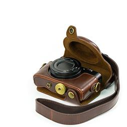 "MegaGear ""Ever Ready"" Protective Brown Leather Camera Case ,"