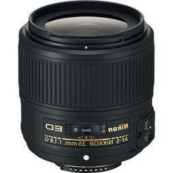 Nikon AF-S NIKKOR 35mm f/1.8G ED Fixed Zoom Lens with Auto F