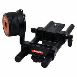 Opteka FF-240 Gearless Follow Focus Rig with 15mm Rail Kit f