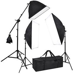 """Photograpy 20x28"""" Softbox Boom Arm Stand Continuous Lighting"""