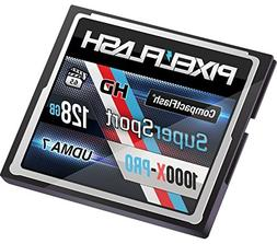 PixelFlash 128 GB SuperSport CompactFlash Memory Card 1106X