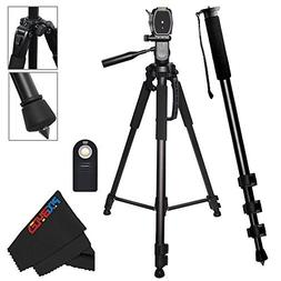 "Professional 72"" Tripod + Professional 72"" Monopod for all C"