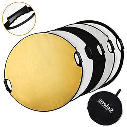 Selens 5-in-1 43 Inch  Portable Handle Round Reflector Colla