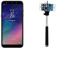 Selfie Stick e.g. for Samsung Galaxy A6 , black, wired Monop