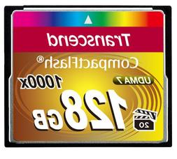 Transcend 128GB Compact Flash Memory Card 1000x