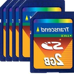 Transcend 2 GB SD Flash Memory Card  pack of 5