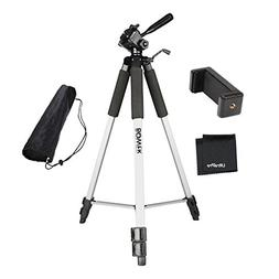 "UltraPro 59"" Inch Full-Size Aluminum Camera Tripod with Univ"