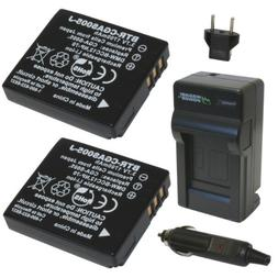 Wasabi Power Battery  and Charger for Leica BP-DC4, C-Lux 1,