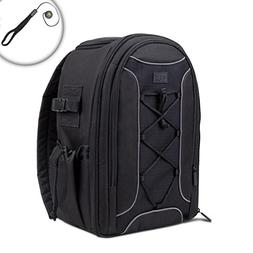 USA Gear Adjustable DSLR Travel Camera Photo Backpack with S