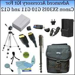 Advanced Accessory Kit For The Canon SX30IS, G10 G11 and G12