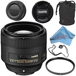 Nikon AF-S NIKKOR 85mm f/1.8G Lens Base Bundle