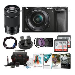 Sony Alpha a6000 Mirrorless Camera with 16-50mm & 55-210mm L