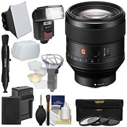 Sony Alpha E-Mount FE 85mm f/1.4 GM Lens + Battery & Charger