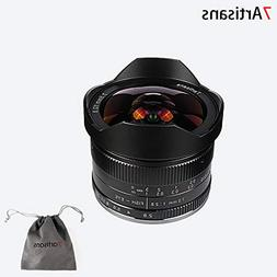7artisans 7.5mm F2.8 APS-C Wide Angle Fisheye Fixed Lens For