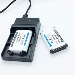 Battery 2 Pack and USB Rapid Travel Charger For Sony Cyber-s