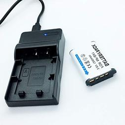 Battery Pack and USB Rapid Travel Charger For Sony Cybershot