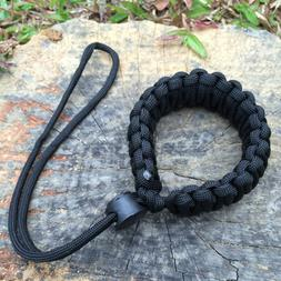 Black Hand Wrist Lanyard Strap Adjustable Grip Cord For Comp