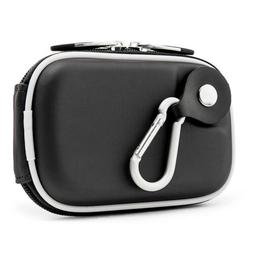 Black Slim Compact Camera Case Carry Bag With Clip For Fujif