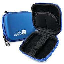 DURAGADGET Premium Quality Blue Hard EVA Shell Case with Car