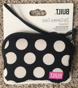 Brand New Built NY Zip Camera Case-Black Polka Dot With Hot