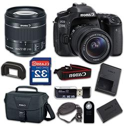Canon EOS 80D Digital SLR Camera & EF-S 18-55mm f/4-5.6 IS S