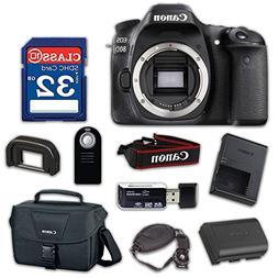 Canon EOS 80D Digital SLR Camera Body Only  - WiFi Enabled w