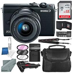 Canon EOS M100 Mirrorless Camera w/ 15-45mm Lens & WiFi  + 3