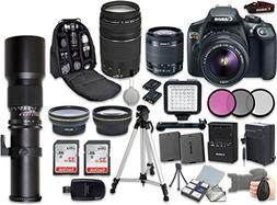 Canon EOS Rebel T6 DSLR Camera Bundle with EF-S 18-55mm f/3.