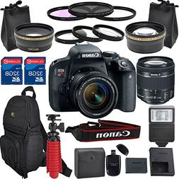 Canon EOS Rebel T7i DSLR Camera Lens Kit With Canon EF-S 18-