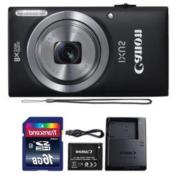 Canon IXUS 185 / ELPH 180 20MP Black Digital Camera + 16GB M
