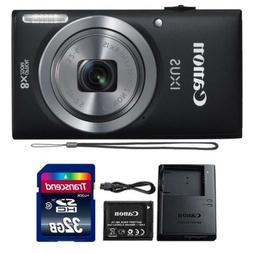 Canon IXUS 185 / ELPH 180 20MP Black Compact Digital Camera