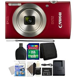 Canon IXUS 185 / ELPH 180 20MP Red Compact Digital Camera wi
