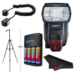 Canon Speedlite 600EX II-RT Flash for Nikon + Compact Batter