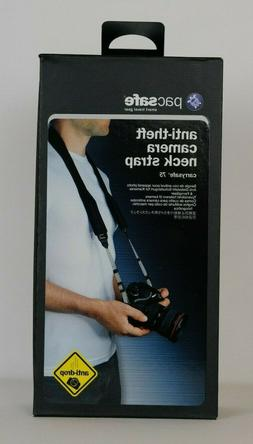 Pacsafe Carrysafe Anti-Theft 75 Camera Neck Strap, Black